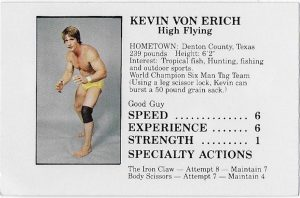 1985 WCCW Official Von Erich Family Board Game Cards