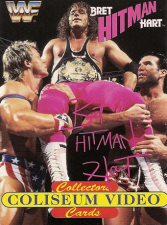 1994 WWF Coliseum Video Bret Hitman Hart Cards