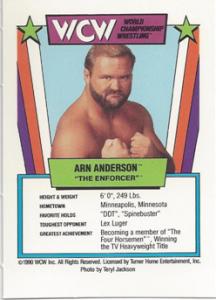 1990 WCW Slam-A-Rama Board Game Cards