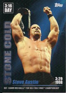 2020 WWE Topps On-Demand Steve Austin 3:16 Day