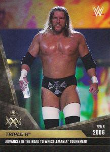 2020 WWE Topps On-Demand Triple H 25th Anniversary Set
